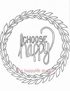 choose happy coloring page simple coloring page