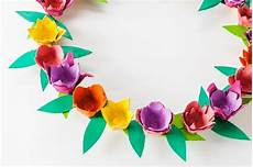Craft With Egg Easter Wreath Of Flowers In