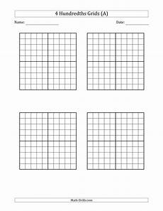 decimal hundredths worksheet 7154 hundredths grid