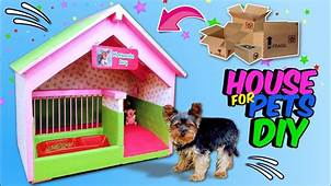 DIY DOGHOUSE  How To Make Amazing Puppy Dog House From