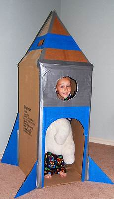 cardboard rocket inspired by one i saw on but