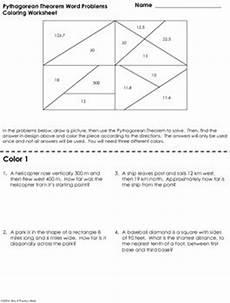 word problem worksheet pythagorean theorem pythagorean theorem word problems coloring worksheet by
