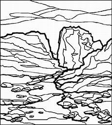 Malvorlagen Landschaften Gratis Zip Felsige Landschaft Ausmalbild Malvorlage Landschaften