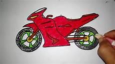 Cara Menggambar Sepeda Motor Boy Anak Jalanan