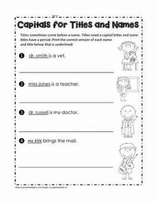 capital letters for titles and names for first graders title capitalization punctuation