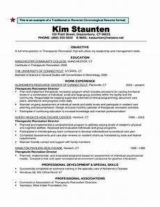 traditional or reverse chronological resume format free download