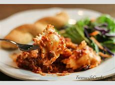 crock pot cheesy ravioli casserole_image