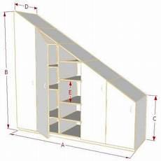 armoire sous comble armoire de rangement sous pente sur mesure armoire sous pente armoire rangement et rangement