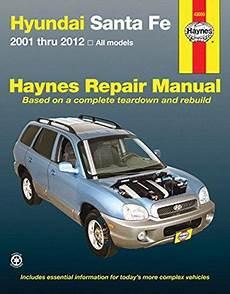 motor repair manual 2008 hyundai santa fe parking system hyundai santa fe 2001 2012 haynes owners service repair manual 1620922118 9781620922118
