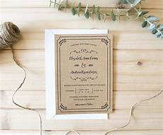 whimsical rustic diy wedding invitation