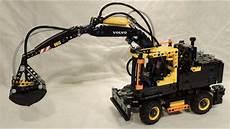 building lego technic 42053 volvo ew160e 4k