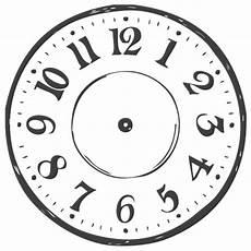 Ausmalbilder Uhr Mit Zeiger Runder Stempel Uhr Ohne Zeiger Dm 3 Cm Im Bastelshop