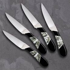 obsidian kitchen knives obsidian steak knife set abalone zinc santa fe