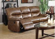 7283 reclining sofa in weathered brown faux leather w options
