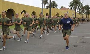 Image result for image marine platoon jogging