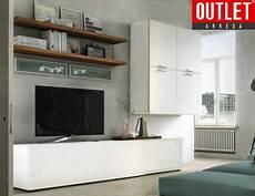 parete con mensole parete attrezzata moderna l 306 cm con mensole essenza e