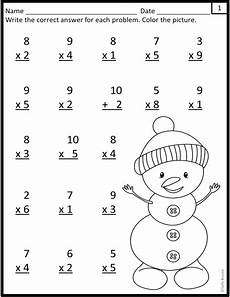 winter worksheet for 5th grade 20179 multiplication worksheets winter snowman theme