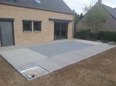 pose lame terrasse composite sur dalle beton terrasse bois ou beton mailleraye fr jardin