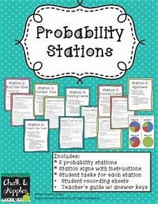 probability experiments worksheets 5761 probability stations grade 6 math 7th grade math teaching math