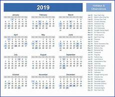 federal holiday calendar 2019 calendar2019 printablecalendar holidays2019 printable