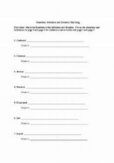 14 best images of matching definitions to words worksheets 2nd grade vocabulary words and