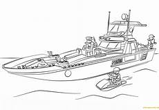 lego patrol boat coloring page free coloring