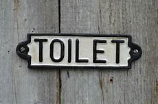 Wc Schild Vintage - vintage style cast iron railway station toilet door sign