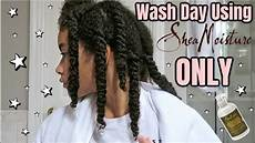 natural curly hair wash day routine using shea moisture products only youtube