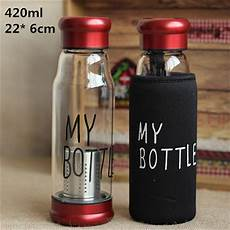 420ml multipurpose outdoor my bottle juice readily space glass water bottles with tea