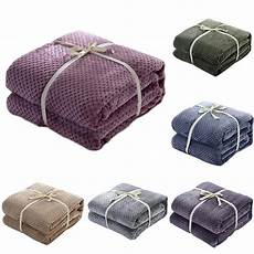 plaid adulte personnalisé honey comb coral fleece blanket plain dyed washable summer throw soft warm nap sofa cover