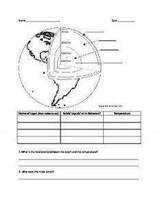 layers of the earth worksheet layers of the earth worksheet lesson 1 by mcdonnell