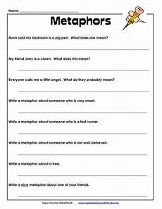 free printable metaphor worksheets metaphor worksheet school stuff pinterest literature what s the and assessment