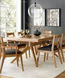 Amish Modern Mid Century Trestle Dining Table Set 7 Pc