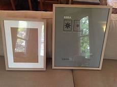 2 X Ikea Picture Photo Frames Light Wood 40 X 50cm And 30