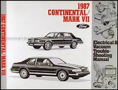 service manuals schematics 1990 lincoln continental mark vii user handbook 1987 lincoln continental and mark vii electrical troubleshooting manual original ebay