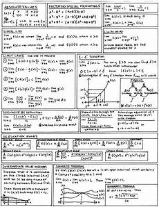 calculus cheat sheet i made a sheet much like this when re teaching myself calculus before