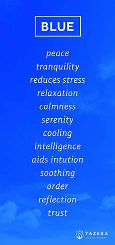 Pin By Tazeka Aromatherapy On Color Psychology Blue