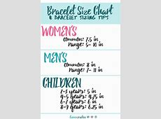 Bracelet Size Chart and Bracelet Sizing Tips   FaveCrafts.com