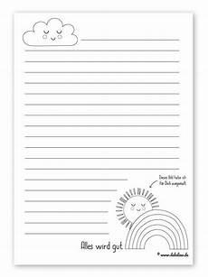 Kinder Malvorlagen Linienpapier Freebie Kinder Briefpapier Vorlagen Kostenlos Als Pdf