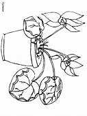 Cyclamen Flowers Coloring Pages Page & Book For Kids