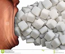 zu viel zucker zu viel zucker stock abbildung illustration