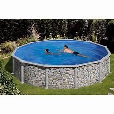 stahlwandpool rund günstig summer stahlwand pool set stein dekor aufstellbecken 216