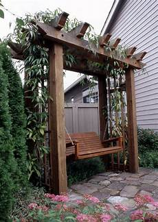 pergola swing arbor with swing wood projects outdoor pergola