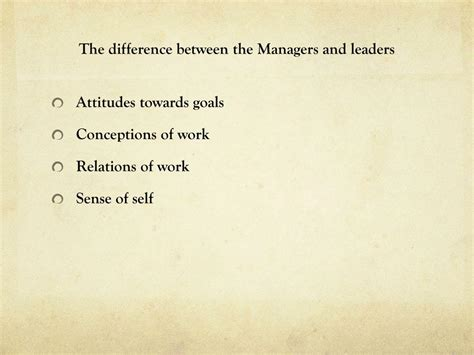 Abraham Zaleznik Managers And Leaders