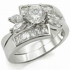 elegant unique flower design cz wedding engagement ring ebay