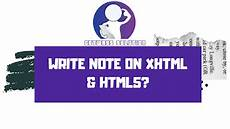 write note xhtml html5 getways solution