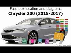 Fuse Box Location And Diagrams Chrysler 200 2015 2017