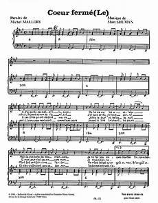 le coeur ferme sheet music by mort shuman piano vocal