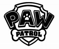 Paw Patrol Logo Malvorlagen Paw Patrol Logo Vinyl Decal Sticker For Cars Windows