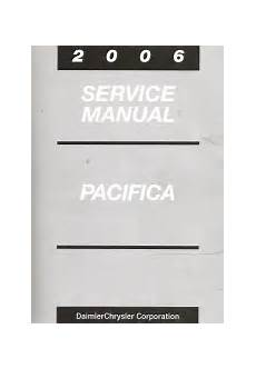 service and repair manuals 2006 chrysler pacifica seat position control 2006 chrysler pacifica service manual